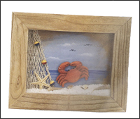 Framed Crab Wall Plaque