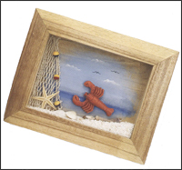 Framed Lobster Wall Plaque