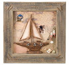 Framed Sailboat Wall Plaque