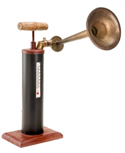 Metal Fog Horn Thermometer