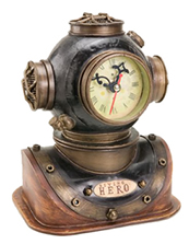 Metal Dive Helmet Clock