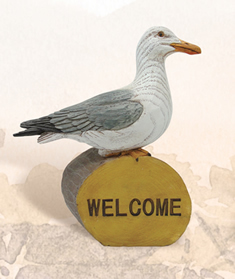 Seagull on Welcome Log