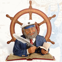 Captain & Ship Wheel Wall Plaque