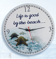 Life Is Good By The Beach Clock