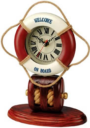 Life Ring Clock w/ Pulley Base