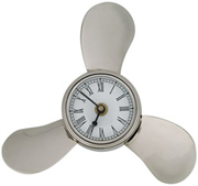 Nickel Plated Brass Propeller Clock