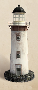 Decorative Rustic Tin Lighthouse Candle Holder
