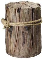 Decorative Piling w/ Fisherman's Rope
