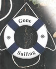 Blue/White Gone Sailing Life Ring