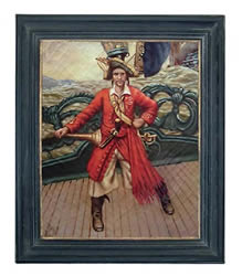 Pirate on Deck Oil on Canvas Painting
