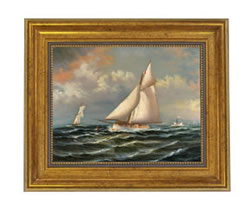 Puritan Leading Genesta Oil on Canvas Painting