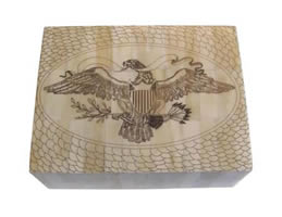 Eagle Scrimshaw Bone Box