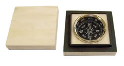 Brass Compass Inlaid in White Bone Box