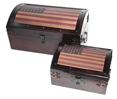 Set of United States Treasure Chests