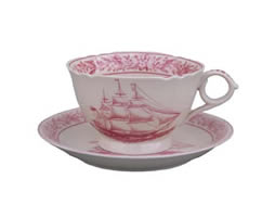 Nautical Rose Cup & Saucer