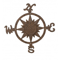 Rust Compass Rose
