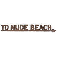 To Nude Beach Wall Plaque