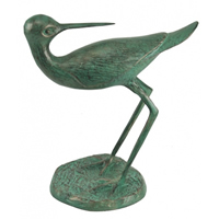 Aluminum Verdigris Shorebird Sculpture