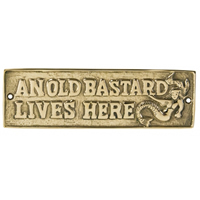 Brass Old Bastard Plaque