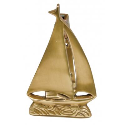 Sailboat door knocker w antique brass finish - Nautical door knockers ...