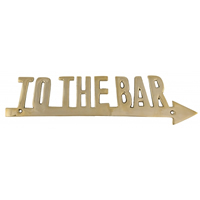 Brass To The Bar Plaque