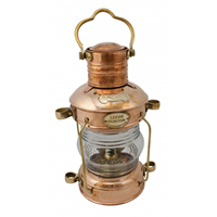 Polished Copper Anchor Oil Lantern