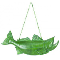Verdigris Hanging Fish