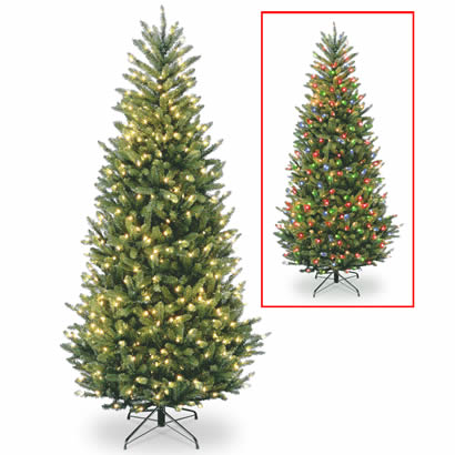 9 Ft. Natural Fraser Slim Fir Christmas Tree with 900 Dual LED Lights