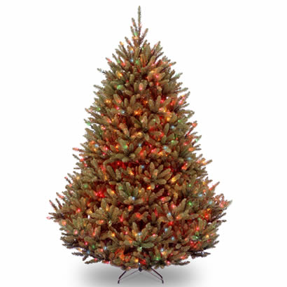 7 1/2 Ft. Natural Fraser Fir Christmas Tree with 1000 Multi Lights