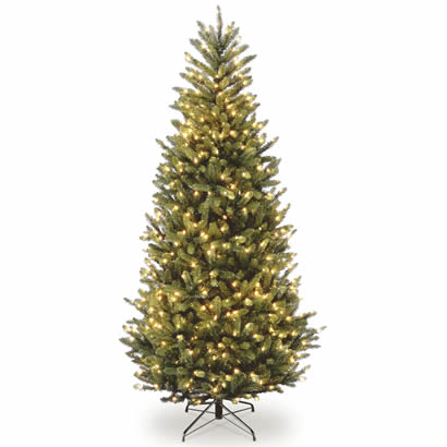 7 1/2 Ft. Natural Fraser Slim Fir Christmas Tree w/ 750 Clear Lights