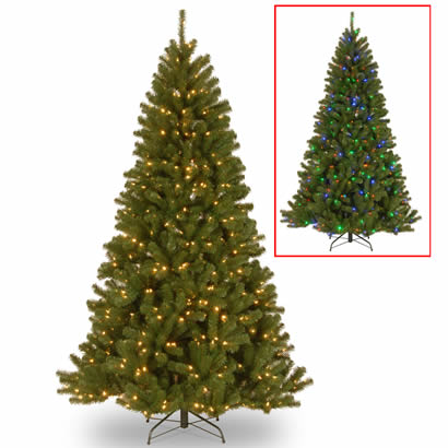 7 1/2 Ft. North Valley Spruce Christmas Tree with 550 Dual Color LEDs