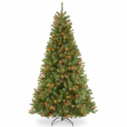 7 1/2 Ft. North Valley Spruce Christmas Tree with 550 Multi Lights-UL