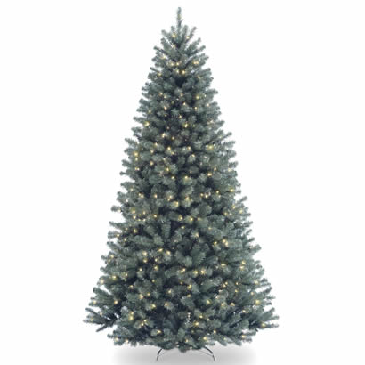 7 1/2 Ft. North Valley Blue Spruce Christmas Tree w/ 700 Clear Lights