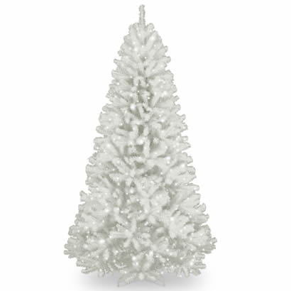 7 Ft. North Valley White Spruce Christmas Tree w/ 550 Clear Lights
