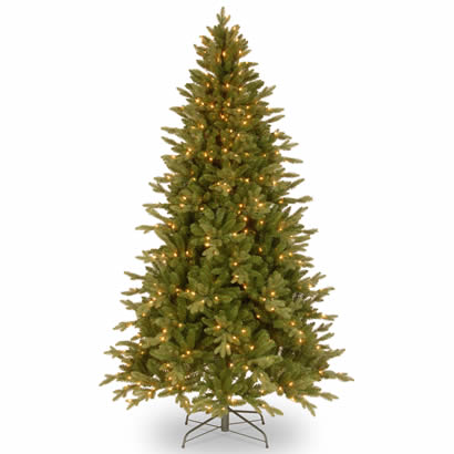 7 1/2 Ft. Feel-Real Avalon Spruce Christmas Tree w/ 500 Clear Lights