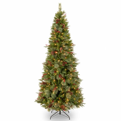 7 1/2 Ft. Feel-Real Colonial Slim Christmas Tree w/ 400 Clear Lights