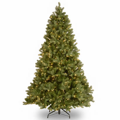 6 1/2 Ft. Feel-Real Douglas Fir Christmas Tree with 650 Clear Lights