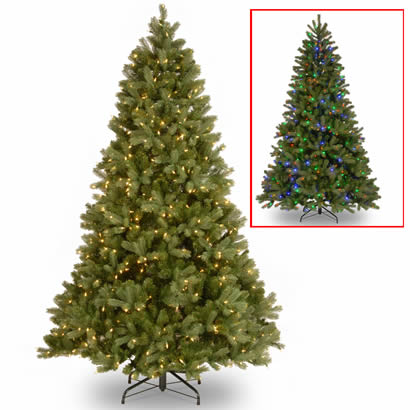 7 1/2 Ft. Feel Real Douglas Fir Christmas Tree w/ 750 Dual LED Lights