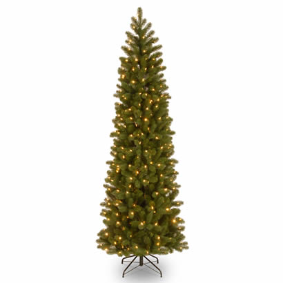 7 1/2 Ft. Feel Real Douglas Fir Slim Christmas Tree w/ 350 Clr Lights