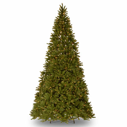 10 1/2 Ft. Feel-Real Fraser Fir Christmas Tree w/ 1250 Clear Lights