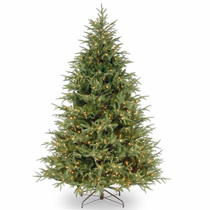 7 1/2 Ft. Feel-Real Frasier Grande Christmas Tree w/ 1000 Clr Lights