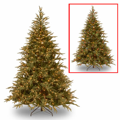 7 1/2 Ft. Feel-Real Frasier Grande Christmas Tree with 1000 Dual LEDs