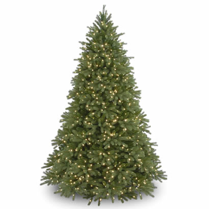 7 1/2 Ft. Feel-Real Fraser Fir Christmas Tree with 1250 Clear Lights