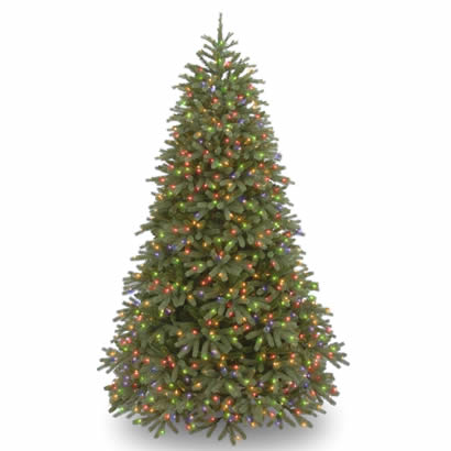 7 1/2 Ft. Feel-Real Fraser Fir Christmas Tree with 1000 Multi Lights