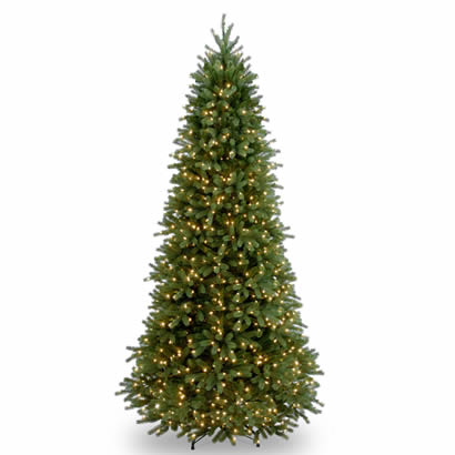 9 Ft. Feel Real Frasier Fir Slim Christmas Tree w/ 1000 Clear Lights