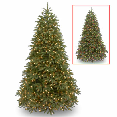 6 Ft. Feel-Real Fraser Fir Christmas Tree with 650 Dual LED Lights