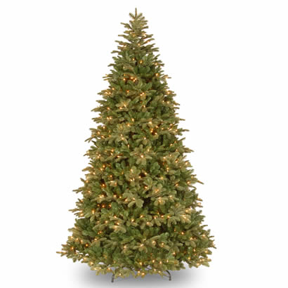 7.5 Ft. Feel-Real Northern Balsam Christmas Tree w/ 750 Clear Lights