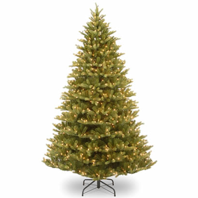 7.5 Ft. Feel-Real Normandy Fir Christmas Tree with 1000 Clear Lights