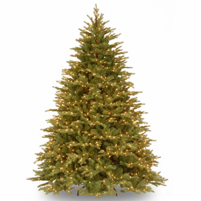 7 1/2 Ft. Feel Real Spruce Christmas Tree with 1000 Clear Lights