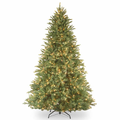 7 1/2 Ft. Feel-Real Tiffany Fir Christmas Tree with 750 Clear Lights